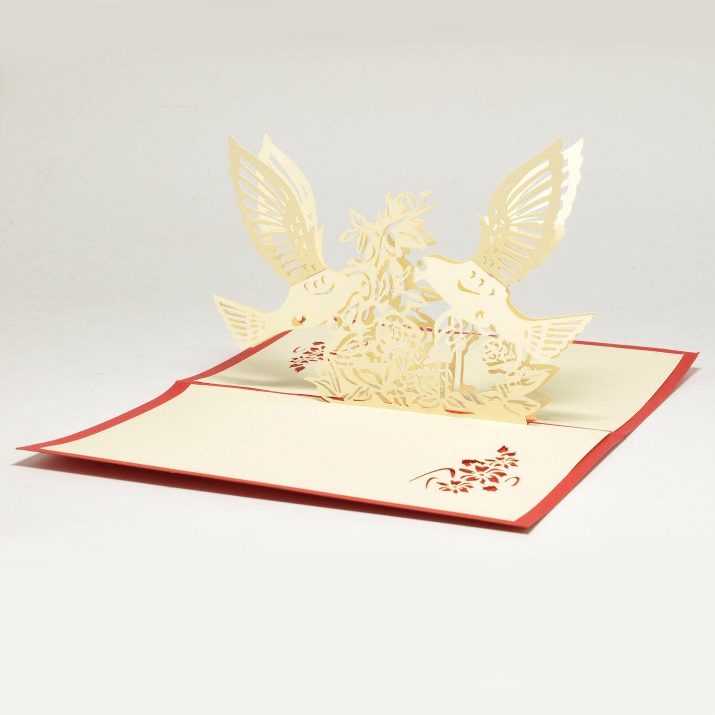 Объемная открытка 3D Голуби и цветыПодарки<br>Объемная открытка 3D Голуби и цветы<br>Размер: None; Объем: None; Материал: Картон; Цвет: None;