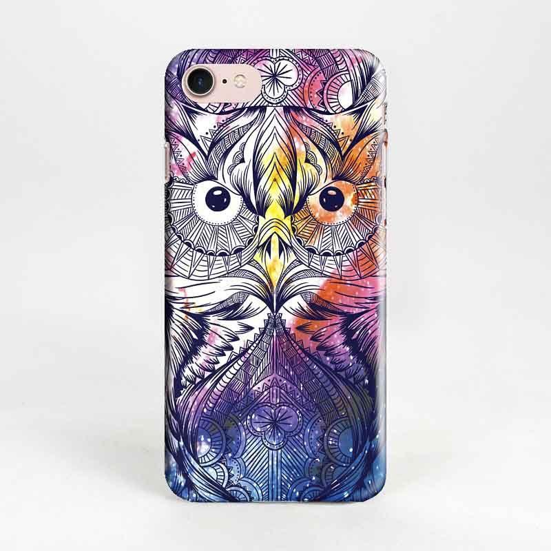 Пластиковый чехол Космос для iPhone 7 (Сова)Подарки<br>Пластиковый чехол с удивительно яркой совой.<br>Размер: None; Объем: None; Материал: Пластик; Цвет: Синий;