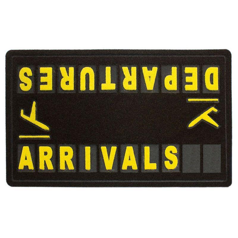 Напольный коврик AirportПодарки<br>Airport ждет вас и дома.<br>Размер: 75 x 43.5 x 0.5 см.; Объем: None; Материал: Ворс, резина; Цвет: Черный / Желтый;