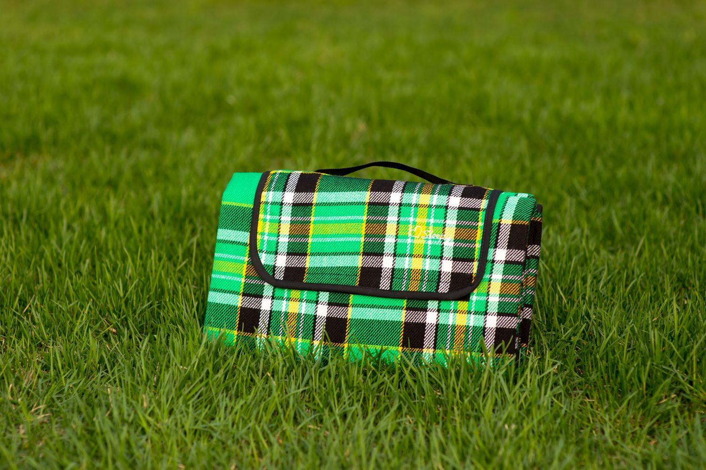 Плед для пикника Sleepy Picnic GreenИнтерьер<br>Летний пикник с пледом веселее.<br>Размер: None; Объем: None; Материал: Акрил; Цвет: Зеленый;