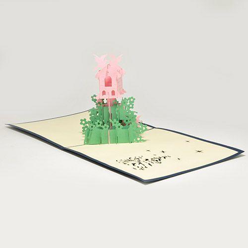 Объемная открытка 3D Домик для Феи