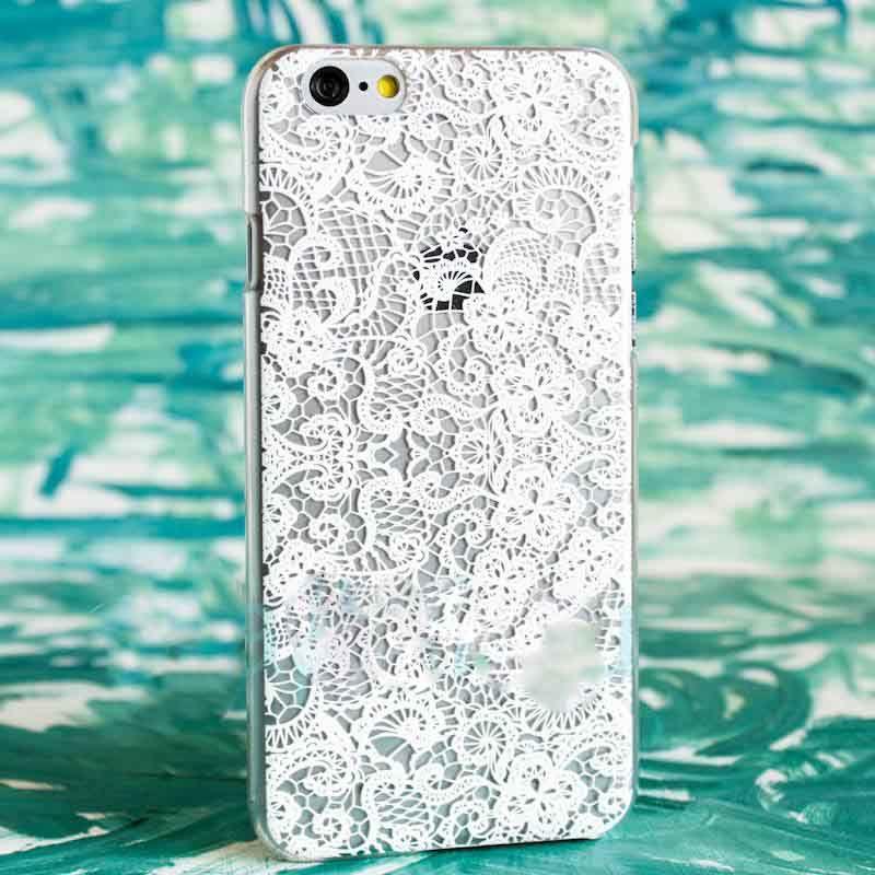 Чехол Кружева (Белые) для iPhone 7Чехлы для телефона<br>Привлекательные кружева не только в одежде, но и на вашем смартфоне.<br>Размер: None; Объем: None; Материал: Пластик; Цвет: Белый;