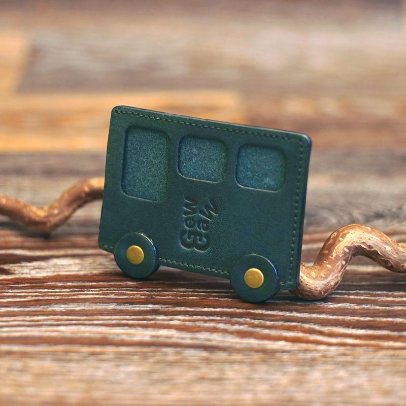 """Картхолдер """"Автобус №7"""", зелёный от 1 490 руб"""