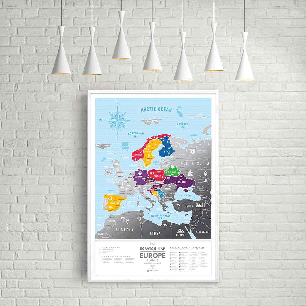 Скретч карта Европы SilverПодарки<br>Скретч-карта упаковывается в соответствующий дизайнерский тубус.<br>Размер: 40 х 60 см; Объем: None; Материал: Бумага; Цвет: Серебристый;
