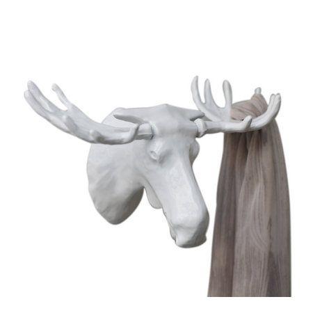 Вешалка Moose белаяПодарки<br>Волшебный лось у вас в прихожей.<br>Размер: 13.8 х 2 х 12.15 см; Объем: None; Материал: Металл; Цвет: Черный;