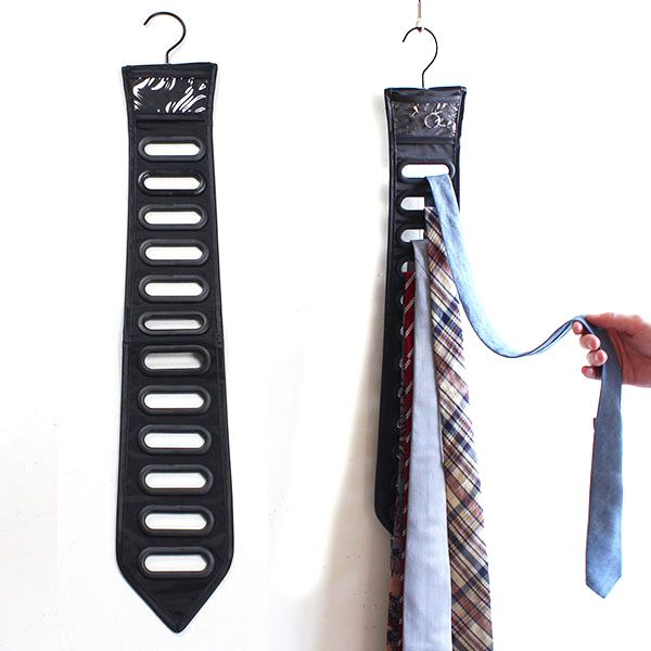 Органайзер для галстуков Black tie черныйТельцу<br>Органайзер для галстуков Black tie (черный)<br>Размер: None; Объем: None; Материал: Полиэстер; Цвет: Черный;
