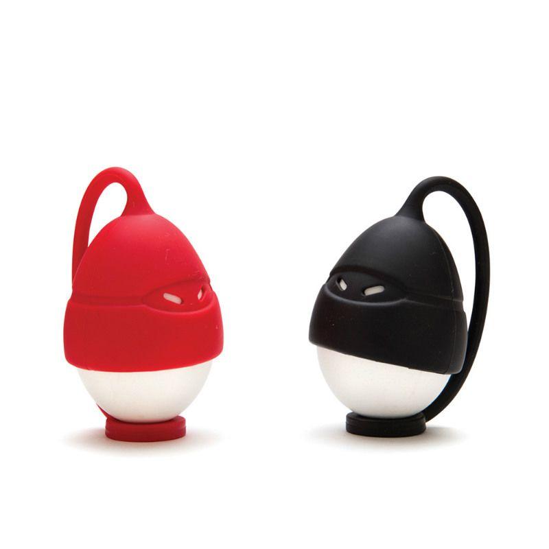Насадки для яиц Egg NinjasПасха<br>Насадки для яиц Egg Ninjas<br>Размер: 5 x 5 x 18 см; Объем: None; Материал: Силикон; Цвет: Черный / Красный;