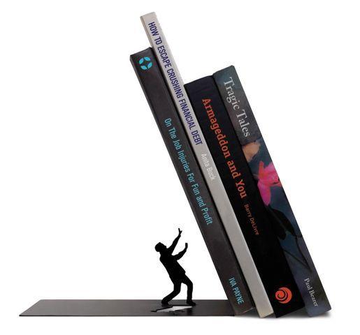 Держатель для книг The EndКниги<br>Держатель для книг Конец (The End)<br>Размер: 11.8 х 17.5 х 11 см.; Объем: None; Материал: Сталь; Цвет: Черный;