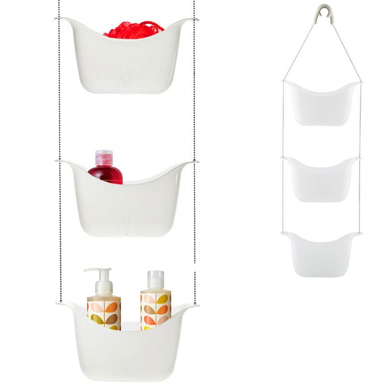 Органайзер для душа Bask белый/никельПодарки<br>Органайзер для душа Bask белый/никель<br>Размер: 28 х 92 х 13 см.; Объем: None; Материал: Пластик ABS; Цвет: Белый / Никель;