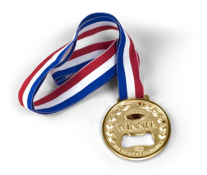 Олимпийская медаль открывалка WinnerПодарки<br>Олимпийская медаль открывалка Winner<br>Размер: None; Объем: None; Материал: Цинк; Цвет: None;