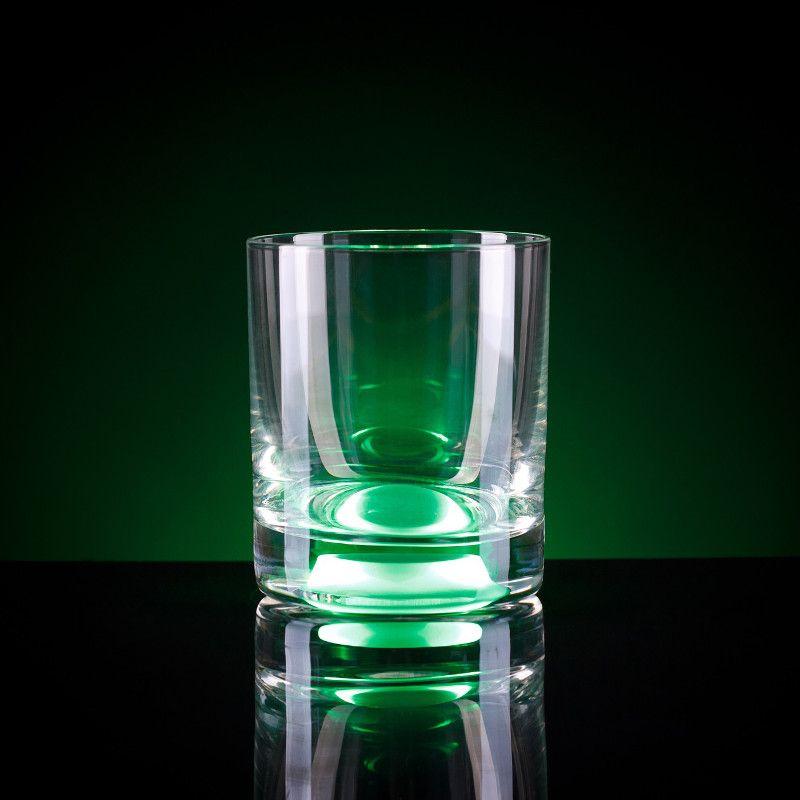 Светящийся бокал Glasshine shortdrink (Зеленый)Подарки<br>Все вечеринки будут на высоте с таким дополнением, удивительно простое решение от изобретателя и прекрасное настроение вам обеспеченно.<br>Размер: 250 мл; Объем: None; Материал: Стекло; Цвет: Зеленый;