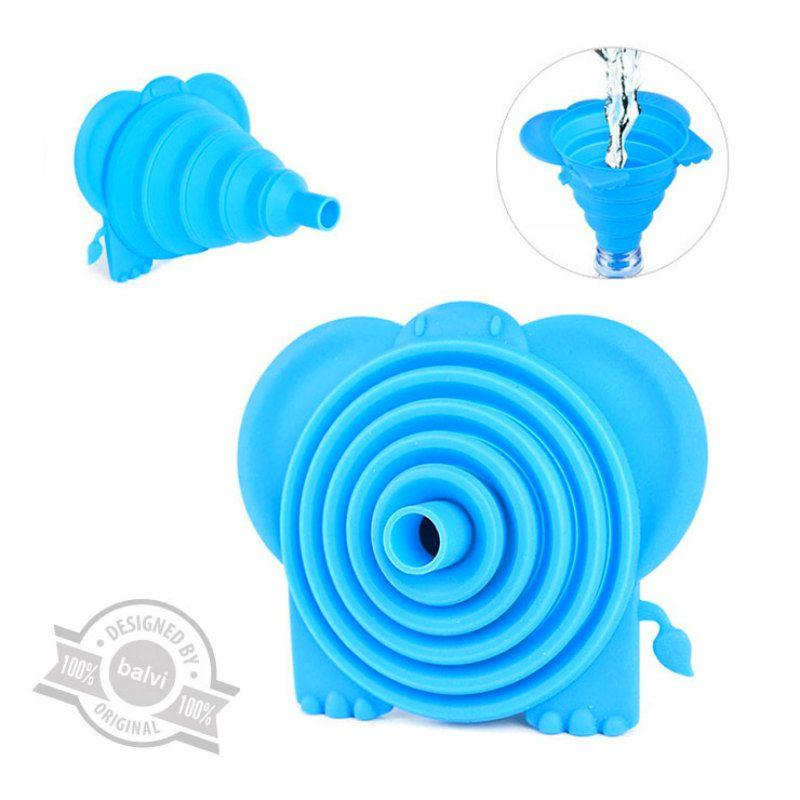 Воронка для бутылки TemboНаборы для приготовления напитков<br>Удивительная вещица на любом пикнике.<br>Размер: 11 x 11 x 10 см.; Объем: None; Материал: Силикон; Цвет: Голубой;