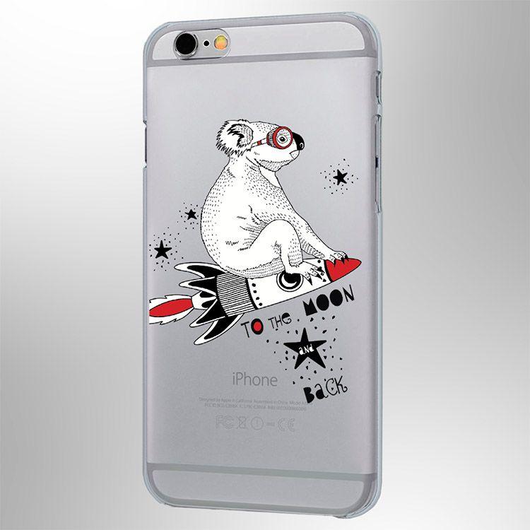 Чехол Sketch Animals Коала iPhone 6/6SЧехлы для телефона<br>Силиконовый чехол Sketch Animals Коала iPhone 6/6S<br><br>Коала летящая на луну, изумительный дизайн для чехла вашего телефона.<br>Размер: None; Объем: None; Материал: Пластик; Цвет: Прозрачный;