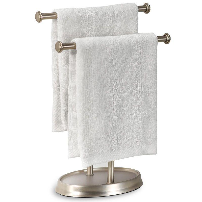 Держатель для полотенец Palm никельПодарки<br>Держатель для полотенец очень элегантно будет смотреться в вашей ванной.<br>Размер: 13 х 27 х 10 см; Объем: None; Материал: Металл; Цвет: Никель;