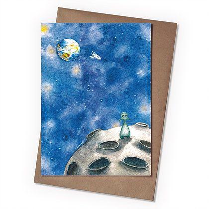 Поздравительная открытка Братья по разумуПодарки<br>Поздравительная открытка Братья по разуму<br>Размер: None; Объем: None; Материал: Бумага; Цвет: Комбинированный;