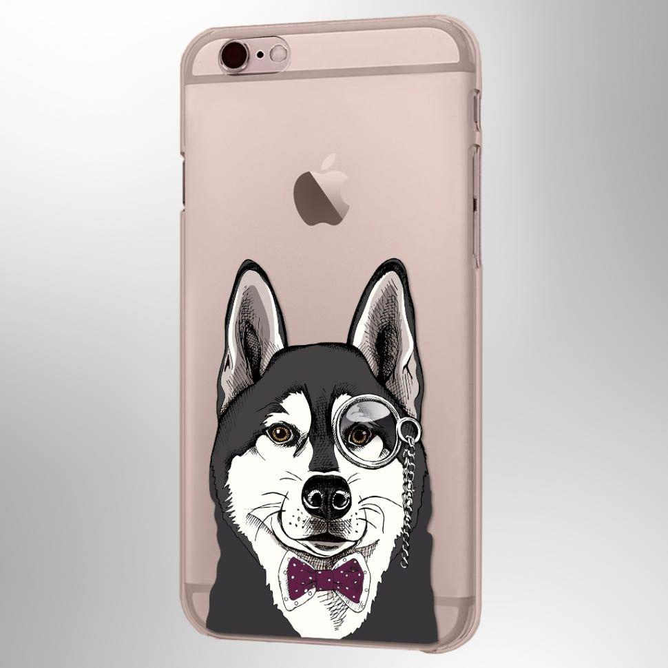 Чехол Питомцы (Хаски) iPhone 6/6SЧехлы для телефона<br>Удивительное животное у вас на IPhone 7.<br>Размер: None; Объем: None; Материал: Пластик; Цвет: Прозрачный;
