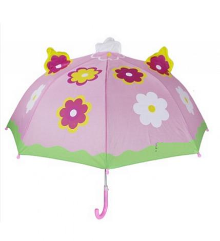 Зонт детский ЦветокПодарки<br>С таким зонтиком не страшно и под дождем прогуляться, необычный подарок каждому ребенку.<br>Размер: 60 х 66 см; Объем: None; Материал: Полиэстер; Цвет: Зеленый;
