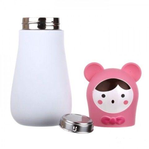 Кружка-термос Кролик Цвет: РозовыйЧашки и кружки<br>Кружка-термос  Кролик (Цвет: Розовый)<br>Размер: None; Объем: None; Материал: Пластик, металл; Цвет: Комбинированный;