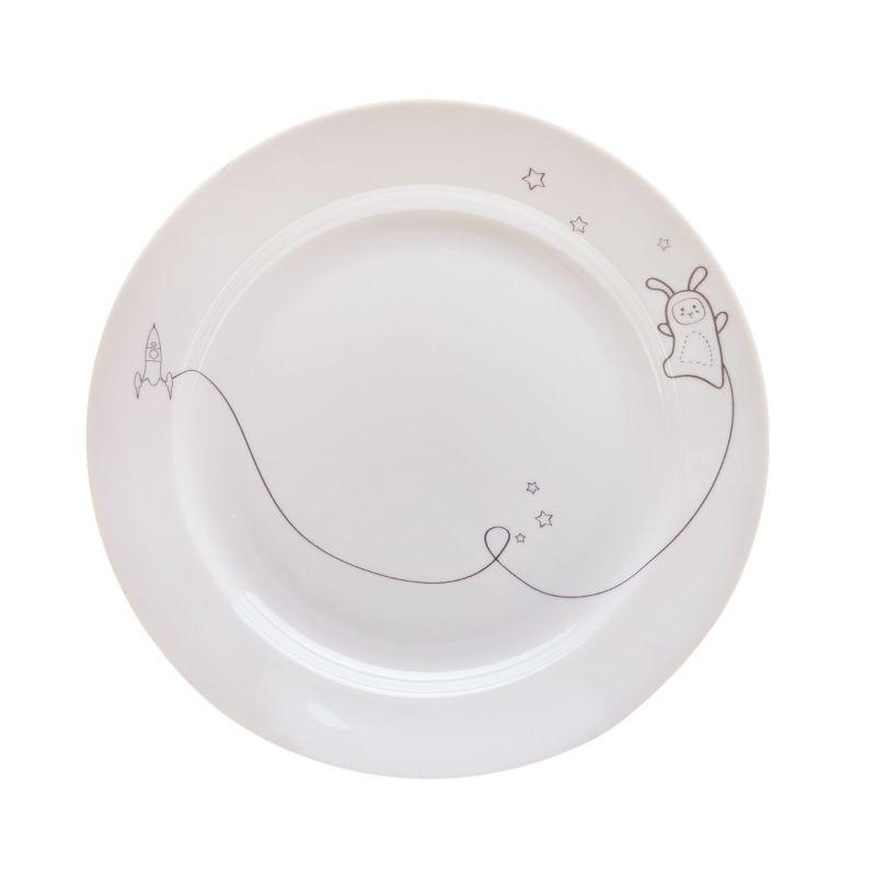 Сюжетная тарелка Кроль в космосеПодарки<br>Сюжетная тарелка Кроль в космосе<br>Размер: None; Объем: None; Материал: Фарфор; Цвет: Белый;