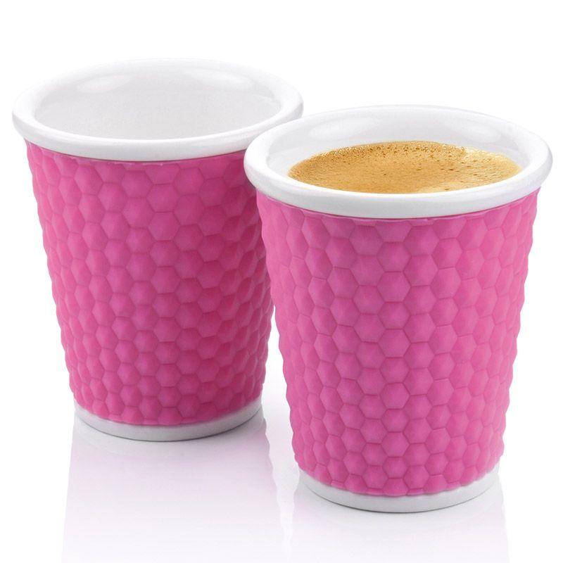 Набор чашек Honeycomb 180 мл розовыйПодарки<br>Набор чашек Соты (Honeycomb)180 мл (Розовый)<br>Размер: None; Объем: 180 мл.; Материал: Фарфор, силикон; Цвет: Розовый;
