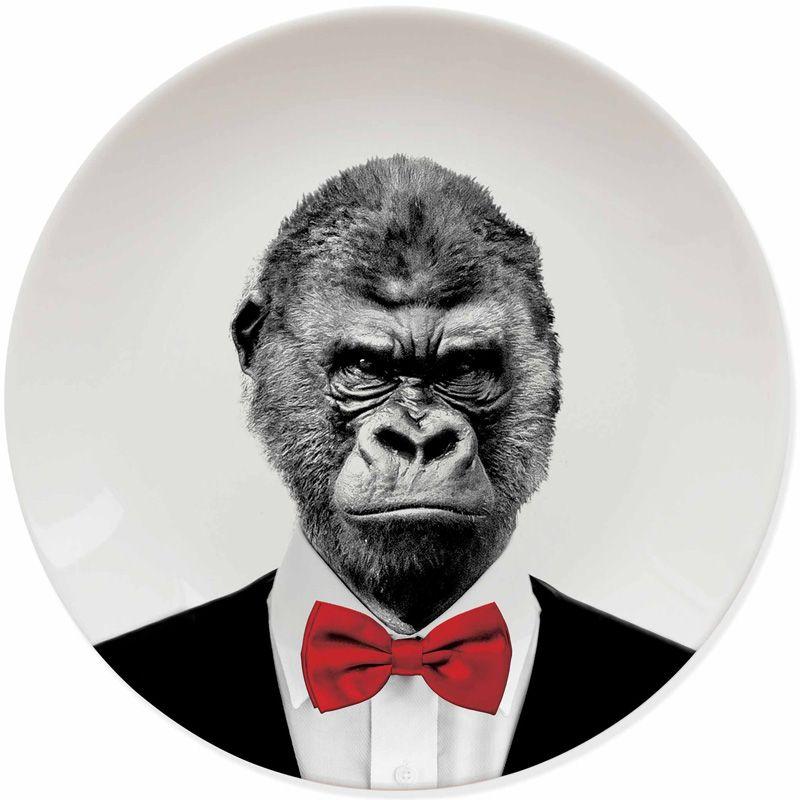 Тарелка Wild Dining гориллаТарелки и миски<br>Тарелка Wild Dining горилла<br>Размер: 3.4 x 25 x 25 см.; Объем: None; Материал: Керамика; Цвет: None;