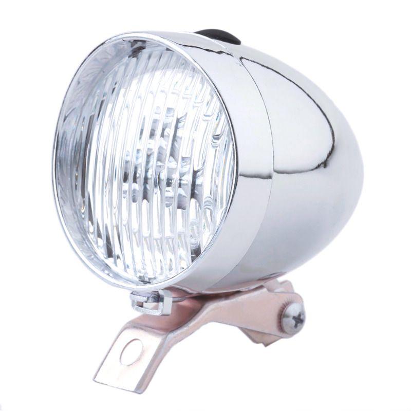 Велосипедный ретро фонарь Waterdrop хромПодарки<br>Ретро фонарь для винтажного велосипеда.<br>Размер: 7 х 10 см; Объем: None; Материал: Пластик, нержавеющая сталь; Цвет: Серебристый;