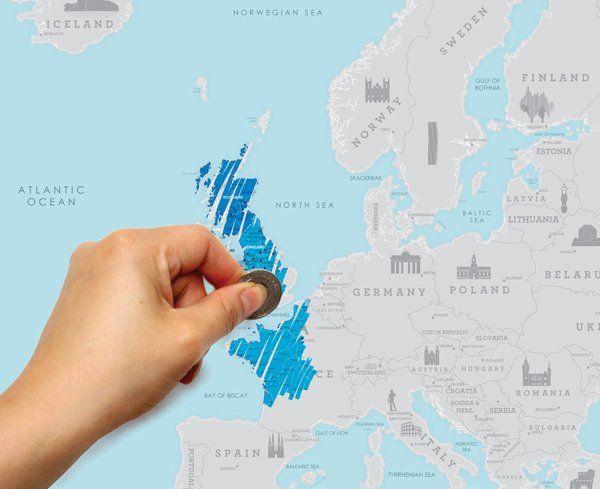Карта путешественника Европа (Scratch Map Euro Edition)