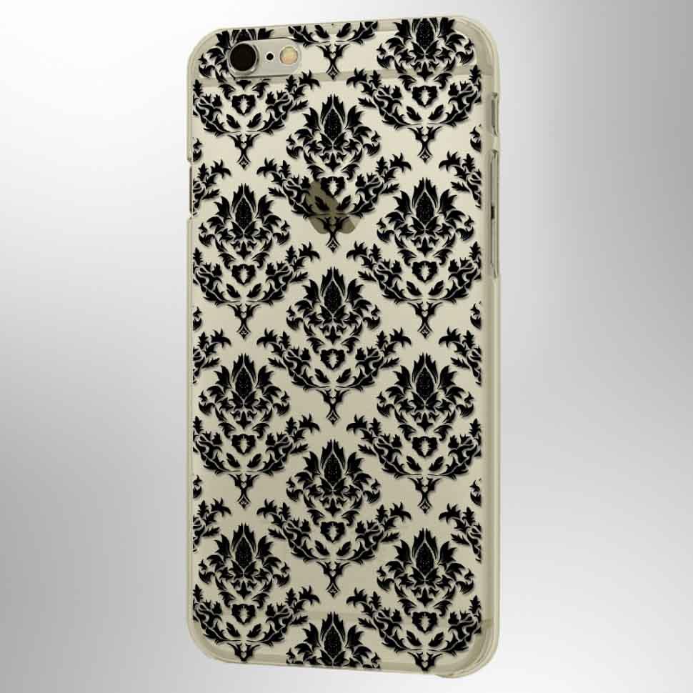 Чехол Кружева Барокко iPhone 7Чехлы для телефона<br>Такое оформление для телефона будет отличным подарком.<br>Размер: None; Объем: None; Материал: Пластик; Цвет: Черный;