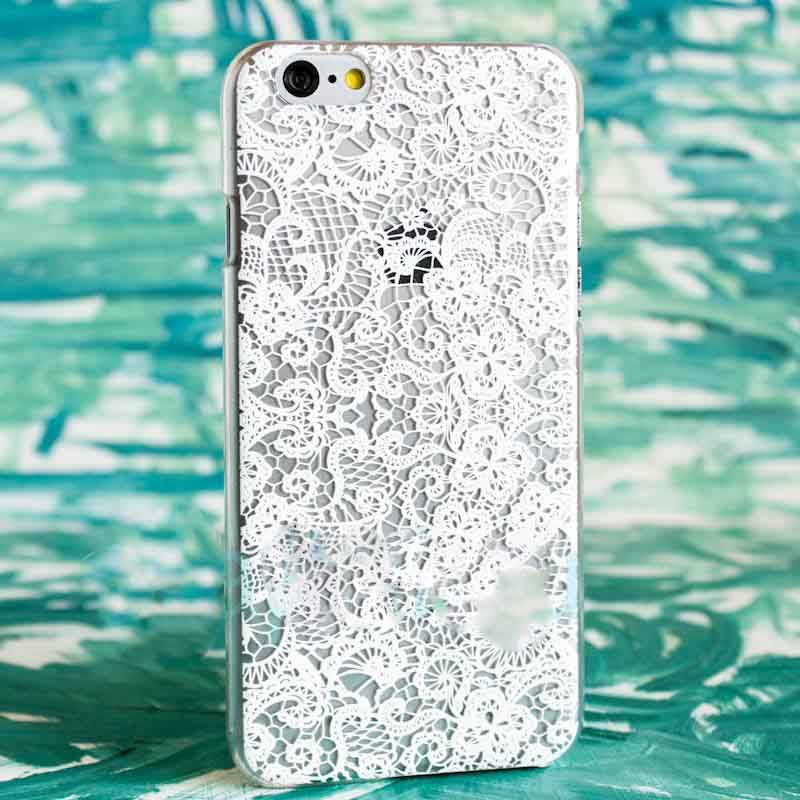 Чехол Кружева (Белые) для iPhone 6/6SПодарки<br>Прекрасные кружева из самого Парижу, для вашего смартфона.<br>Размер: None; Объем: None; Материал: Пластик; Цвет: Белый;