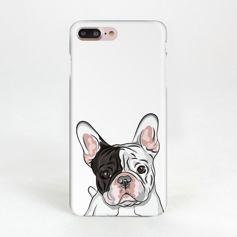 Чехол Питомцы для iPhone 6/6S (Бульдог)Подарки<br>Белый бульдог с черным пятном на вашем смартфоне.<br>Размер: None; Объем: None; Материал: Пластик; Цвет: Белый;