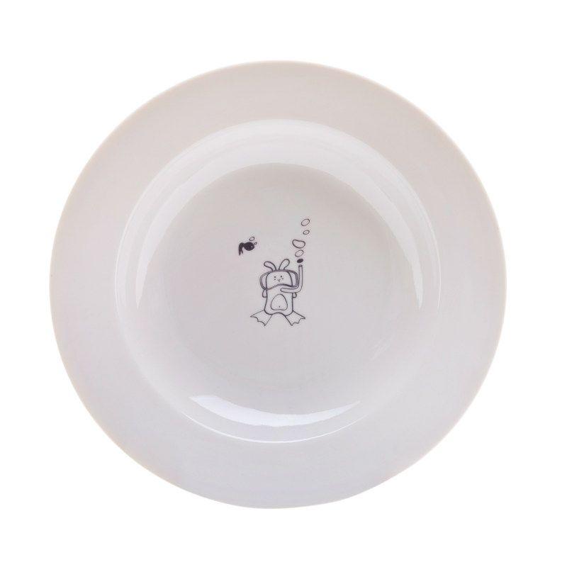 Сюжетная тарелка Кроль водолаз, глубокаяКухня<br>Сюжетная тарелка порадует любого водолаза.<br>Размер: None; Объем: None; Материал: Фарфор; Цвет: Белый;