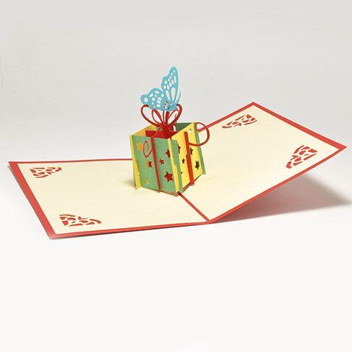 Объемная открытка 3D С Днем Рождения (Роза)