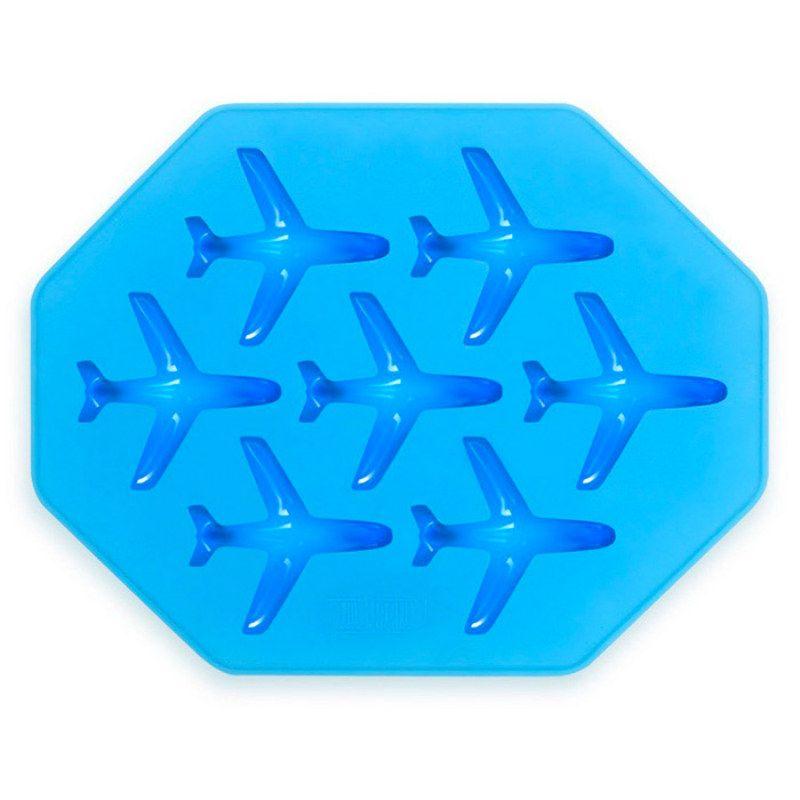 Форма для льда СамолетикусПодарки<br>Самолеты в улетных коктейлях.<br>Размер: 35,3 ? 17 ? 2 см; Объем: None; Материал: Силикон; Цвет: Голубой;