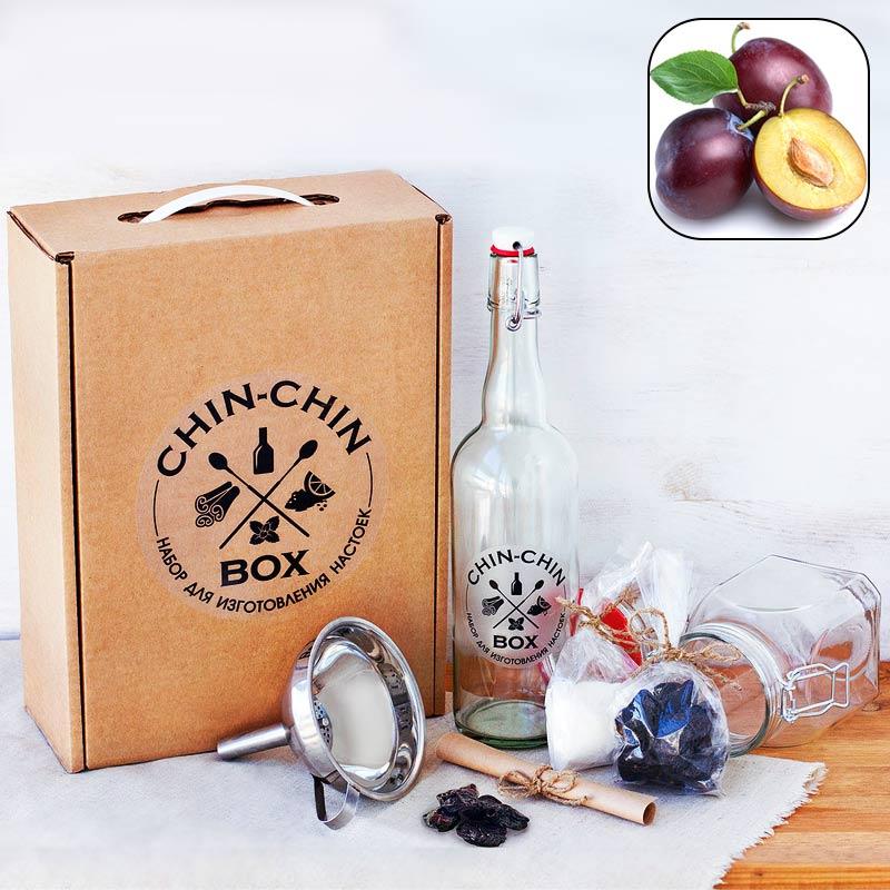 Набор для приготовления настойки Chin-Chin Box - СливоваяСкорпиону<br>Набор для приготовления настойки Chin-Chin Box - Сливовая<br>Размер: 33 х 25 х 10 см; Объем: None; Материал: None; Цвет: None;