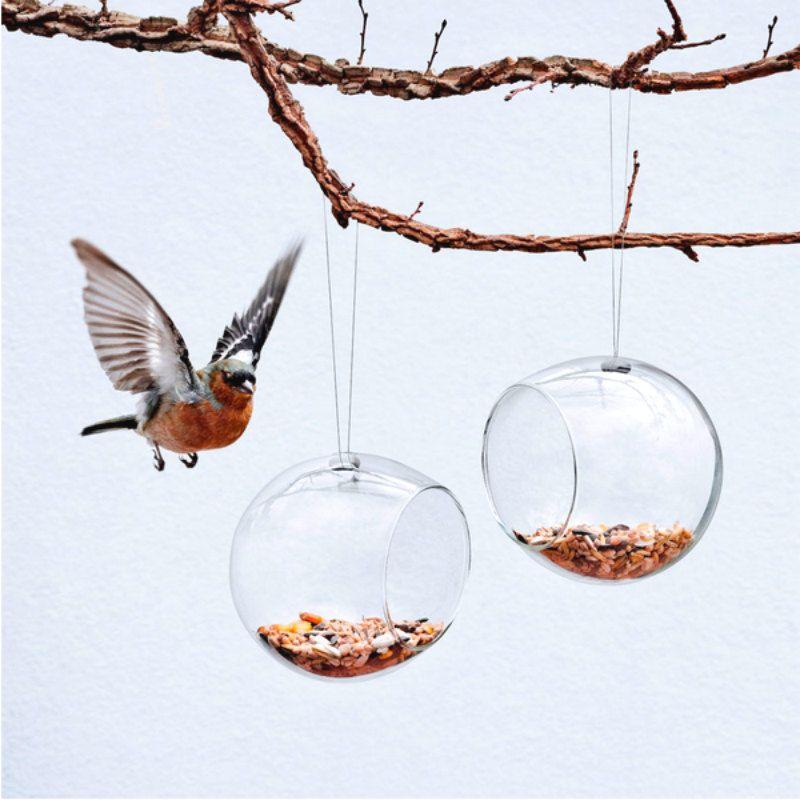Кормушки для птиц подвесные малые 2 штНовый год<br>Кормушки для птиц подвесные малые 2 шт<br>Размер: 10 х 11 х 11 см.; Объем: None; Материал: Стекло; Цвет: Прозрачный;