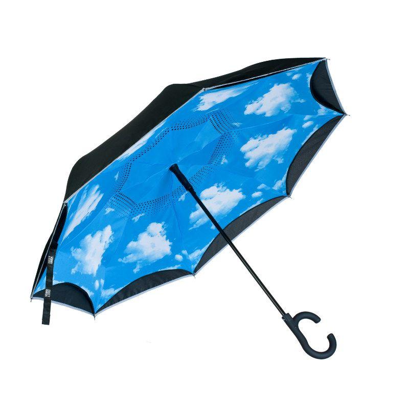 Зонт SmartZont Голубое небоДень рождения<br><br>Размер: 86 см.; Объем: None; Материал: Хлопок; Цвет: Белый / Голубой;