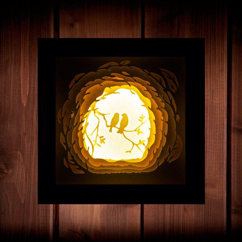Светильник - ночник Флирт In White BoxПодарки<br>Светильник Флирт - очень тёплый и нежный сюжет. Оставьте его в детской, и он навсегда избавит детей от страха темноты.<br>Размер: 16 х 16 х 6 см; Объем: None; Материал: Бумага; Цвет: Белый;