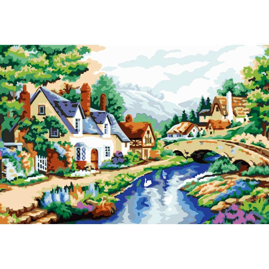 Картина по номерам РекаПодарки<br>Картина по номерам Река<br>Размер: None; Объем: None; Материал: Холст (хлопок), дерево, краска; Цвет: None;