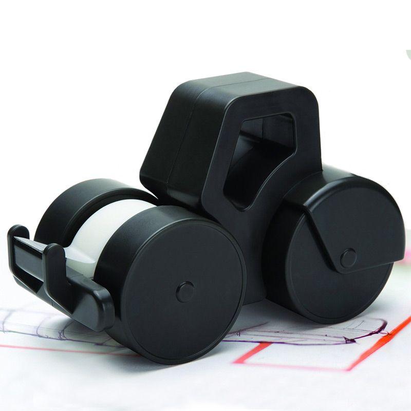 Диспенсер для скотча Roller черныйДомашний уют<br>Стильный аксессуар на любой рабочий стол.<br>Размер: 9.5 x 15 x 7 см; Объем: None; Материал: Пластик; Цвет: Черный;