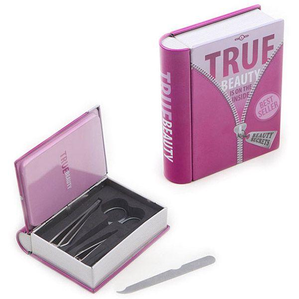 Маникюрный набор True Beauty розовыйКрасота и уход<br>Маникюрный набор True Beauty розовый<br>Размер: 11 x 19 x 3 см.; Объем: None; Материал: Металл; Цвет: Розовый;