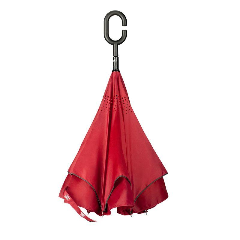 Зонт SmartZont БордоПодарки<br>Бордовый зонт - классическая защита от дождя. SmartZont в бордовом цвете, как никогда привлекателен и вы не промокните под дождем.<br>Размер: 82 см; Объем: None; Материал: Стекло; Цвет: Бордовый;