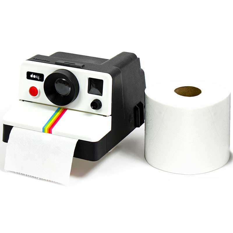 Держатель для туалетной бумаги PolarollПодарки<br>Держатель для туалетной бумаги Polaroll<br>Размер: 14 x 17 x 10 см.; Объем: None; Материал: Пластик; Цвет: Черный / Белый;