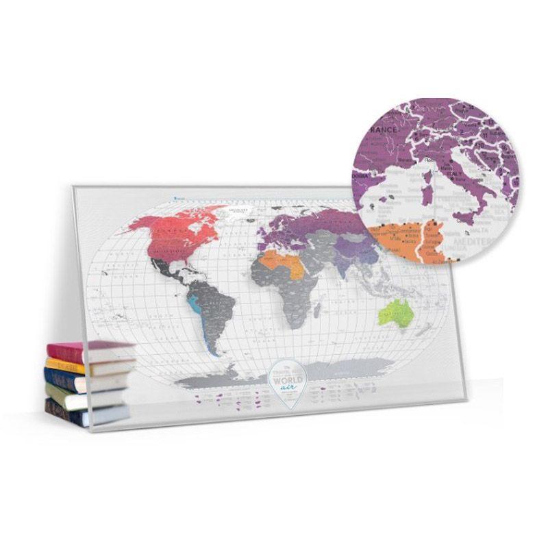 Скретч карта мира AirДля путешествий и отдыха<br>Скретч карта мира с воздушным дизайном.<br>Размер: 60 х 80 см; Объем: None; Материал: Пластик; Цвет: Прозрачный;