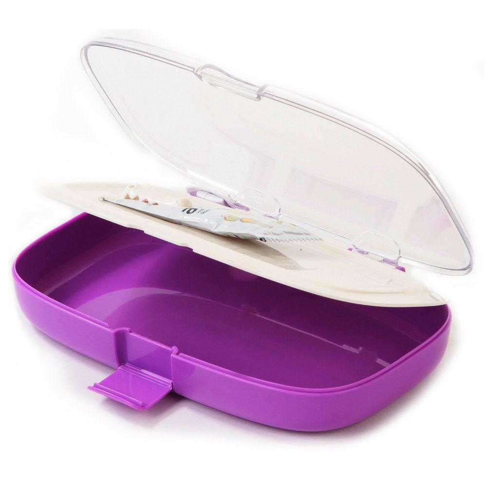 Ланч-Бокс Clean ФиолетовыйПодарки<br>Ланч-Бокс Clean (Фиолетовый)<br>Размер: 23 x 14 x 4.5 см.; Объем: None; Материал: Пищевой пластик ВРА; Цвет: Фиолетовый;