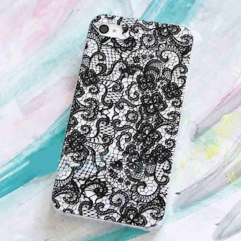 Чехол Кружева (Черные) для iPhone 6/6SЧехлы для телефона<br>Прекрасным женщинам прекрасные аксессуары.<br>Размер: None; Объем: None; Материал: Пластик; Цвет: Черный;