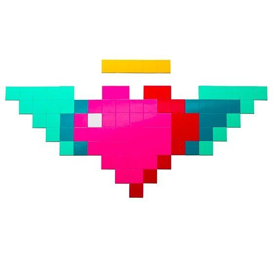Магнитная мозаика Moza Сердце с крыльямиСтрельцу<br>Магнитная мозаика Сердце (MOZA)<br>Размер: 24 см; Объем: None; Материал: Магнит, полипропилен; Цвет: None;