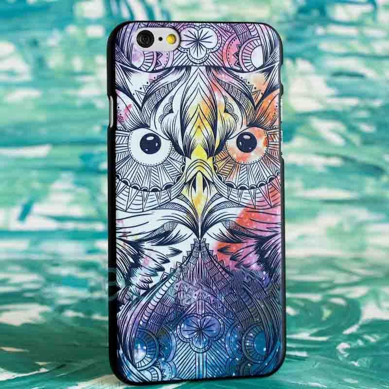 Чехол Космос (Сова) для iPhone 6/6SПодарки<br>Увлекательная космическая сова на вашем смартфоне.<br>Размер: None; Объем: None; Материал: Пластик; Цвет: Черный / Зеленый;