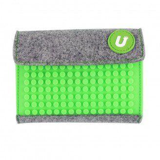 Пиксельный кошелек Pixel felt small wallet Зеленый