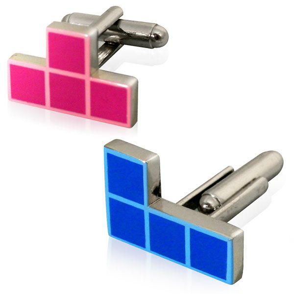 Запонки Тетрис TetrisПодарки<br>Креативные запанки любому мужчине.<br>Размер: 2 х 1.5 см; Объем: None; Материал: Металл; Цвет: None;
