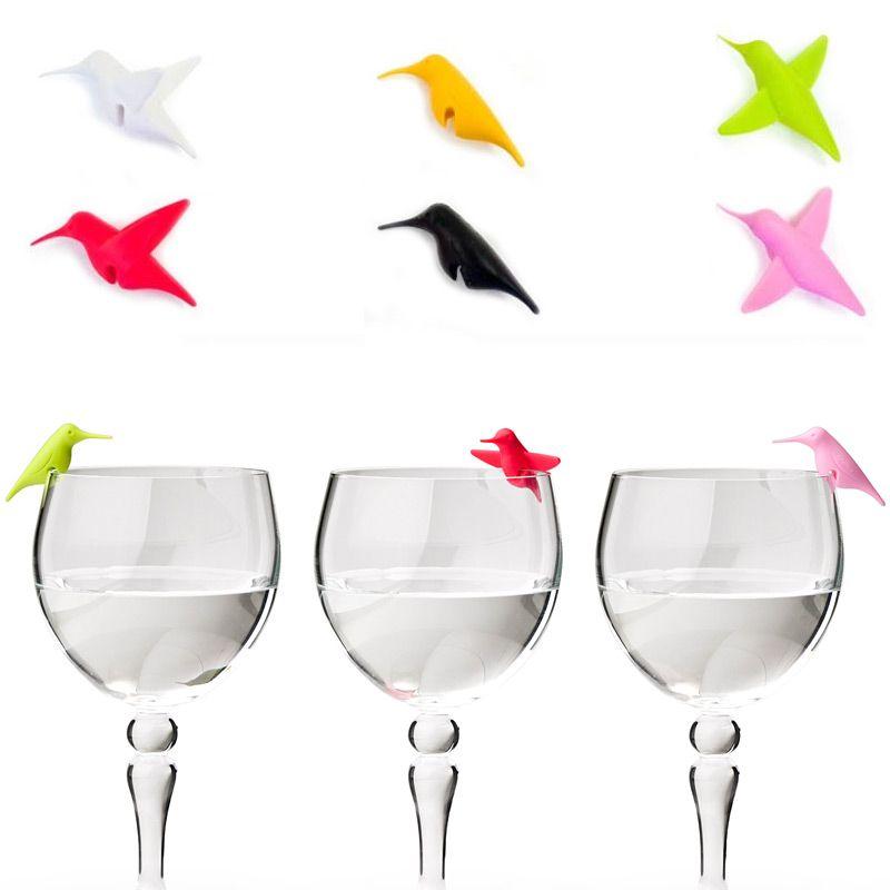 Маркеры для бокалов Humming BirdБокалы, стаканы и стопки<br>Маркер для бокалов Перелетные птицы HUMMINGBIRDS MARK<br>Размер: None; Объем: None; Материал: Силикон; Цвет: None;